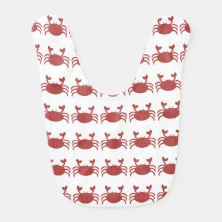 Cangrejo rojo baberos para bebé