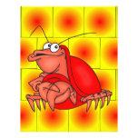 Cangrejo tímido flyer a todo color
