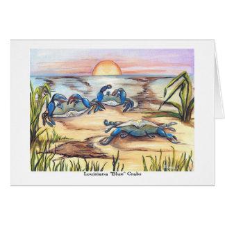 Cangrejos azules de Luisiana Tarjeta De Felicitación