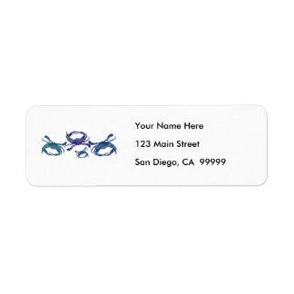 Cangrejos azules del Chesapeake Etiqueta De Remitente