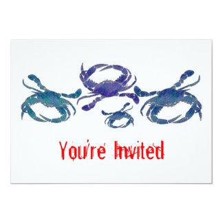 Cangrejos azules del Chesapeake Invitacion Personal