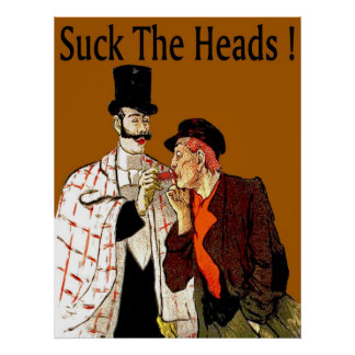 Cangrejos ¡Chupe las cabezas Poster