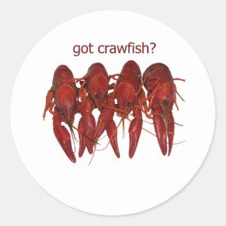 ¿cangrejos conseguidos? logotipo pegatina redonda
