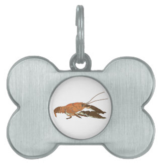 Cangrejos/Crawdad realistas Placa Mascota