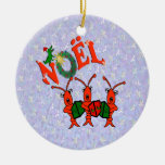 Cangrejos de Caroling con el ornamento del cocodri Adorno De Reyes