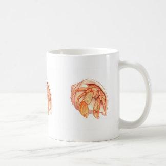 Cangrejos de ermitaño taza de café