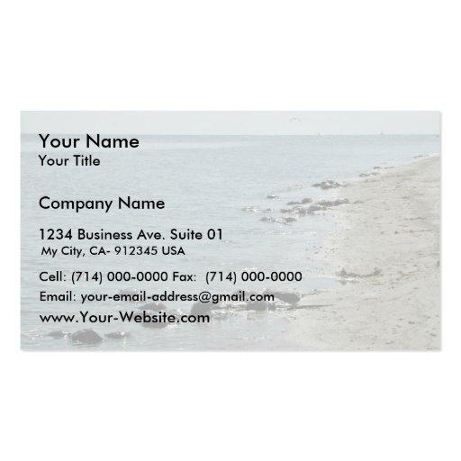 Cangrejos de herradura a lo largo de la playa tarjetas de visita