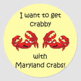 Cangrejos de Maryland Pegatina Redonda
