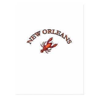 Cangrejos de New Orleans Postales