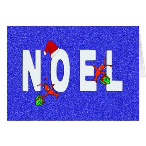Cangrejos de Noel/tarjeta lindos de la langosta