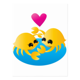 Cangrejos del amor tarjetas postales
