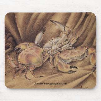 Cangrejos del baile alfombrilla de ratones