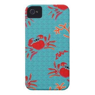cangrejos del mar de la natación del zakiaz iPhone 4 Case-Mate coberturas