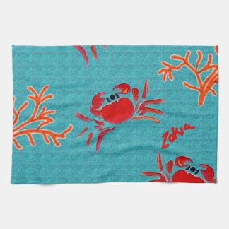 cangrejos del mar de la natación del zakiaz toalla de mano
