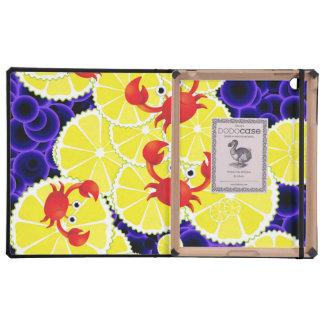 Cangrejos en el limón iPad protector
