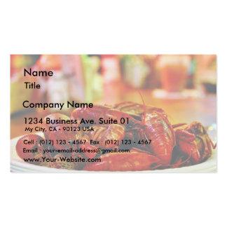 Cangrejos en la casa de la ostra de la cumbre tarjetas de visita