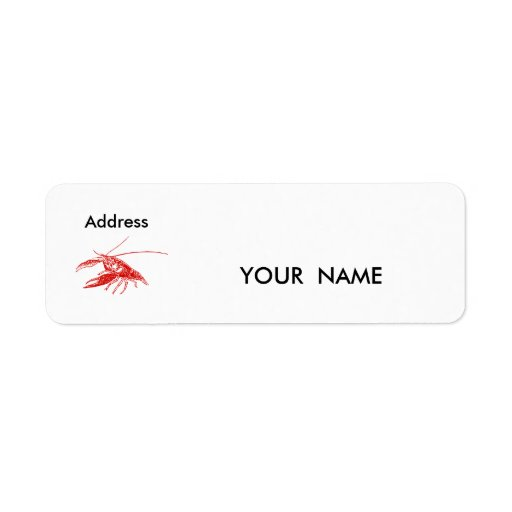 cangrejos, etiqueta etiqueta de remite