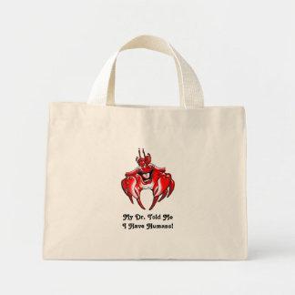Cangrejos felices - tote del presupuesto del diseñ bolsa