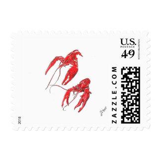 Cangrejos hervidos sello postal