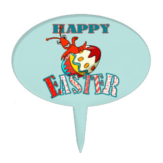 Cangrejos lindos Pascua feliz Decoración De Tarta