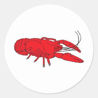 cangrejos pegatina redonda