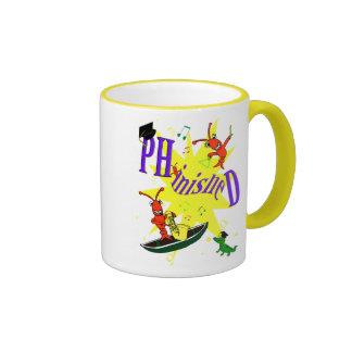 "Cangrejos PH.d. ""Phinished "" de Cajun Taza De Dos Colores"