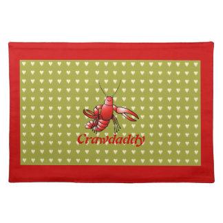 Cangrejos rojos Placemats de Crawdaddy Mantel Individual