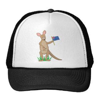 Canguro animal del alfabeto gorras de camionero