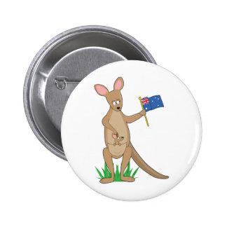 Canguro animal del alfabeto pin