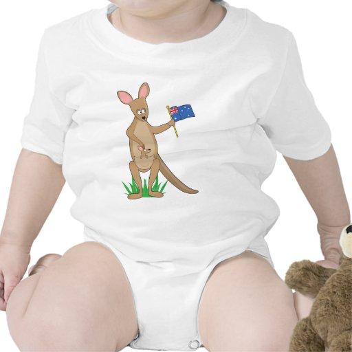 Canguro animal del alfabeto trajes de bebé