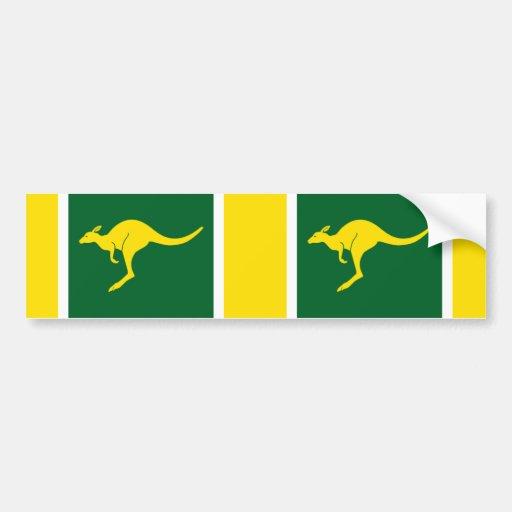 Canguro australiano de DOS colores Pegatina De Parachoque