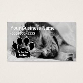 Canguro australiano del mascota del perrito del tarjetas de visita