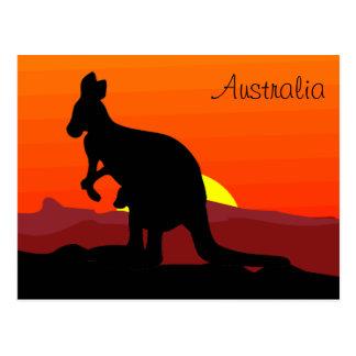 Canguro australiano del personalizado interior en postal