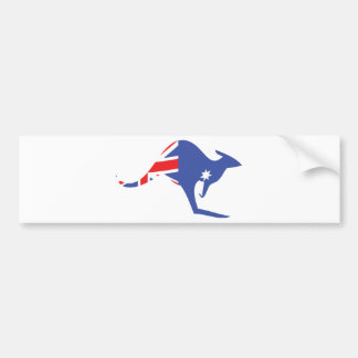 canguro australiano pegatina para auto