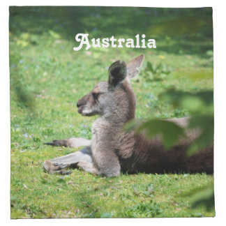 Canguro australiano servilletas