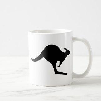 Canguro australiano taza básica blanca