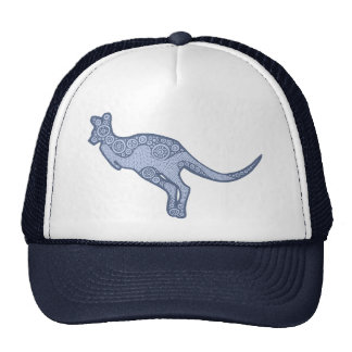 Canguro azul claro gorras de camionero