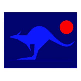 Canguro azul postal