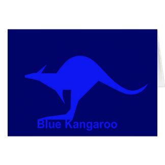 Canguro azul tarjeta de felicitación