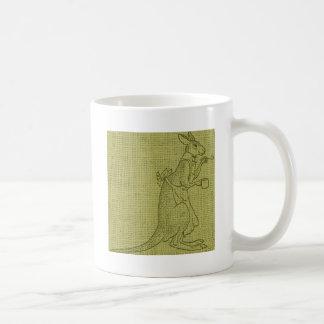 Canguro con la cuchara taza básica blanca