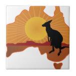 Canguro de Australia Azulejos