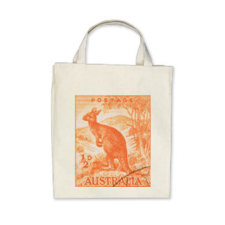 Canguro de Australia del vintage Bolsa De Mano