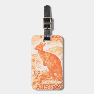 Canguro de Australia del vintage Etiquetas Maletas
