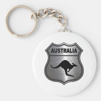 Canguro de Australia Llavero Redondo Tipo Pin