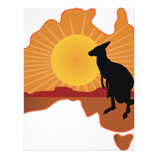 Canguro de Australia Membrete A Diseño