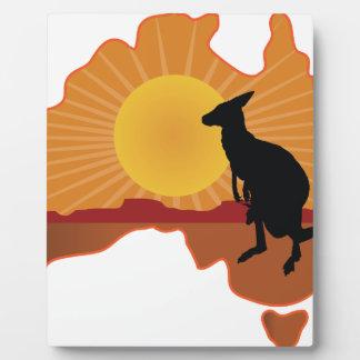Canguro de Australia Placa De Madera