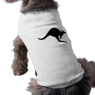 Canguro de la precaución playera sin mangas para perro