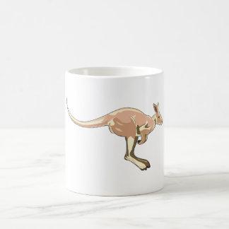 Canguro de salto taza de café
