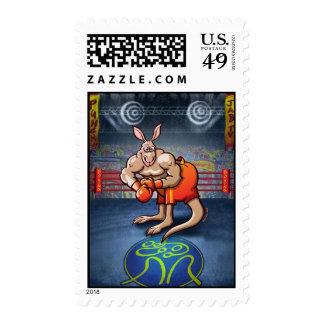 Canguro del boxeo sello
