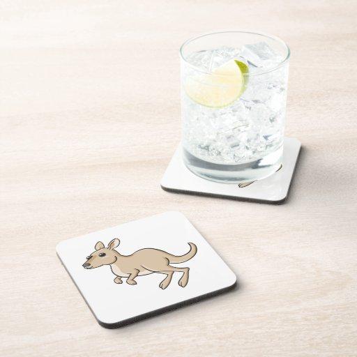 Canguro del dibujo animado de la lupulización posavasos de bebidas